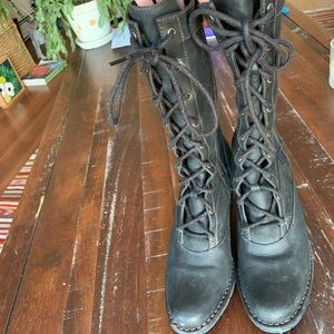 Lace up Indigo by Clark's boots